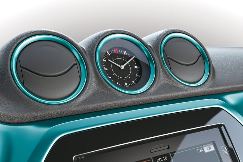 Air Conditioning Louver Ring Set - Turquoise