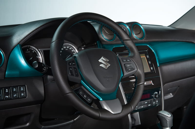 Steering Wheel Garnish - Turquoise