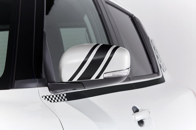 Door Mirror Decals - Black