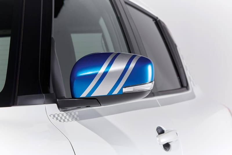 Door Mirror Decals - Silver