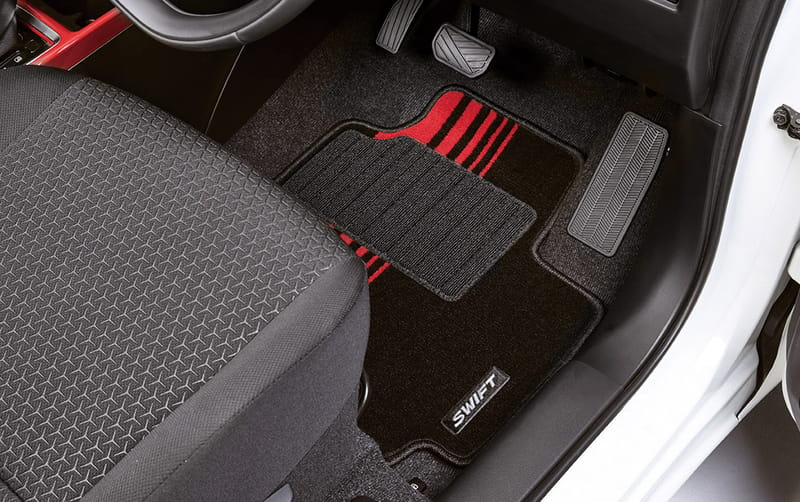 Carpet Floor Mat Set - Red