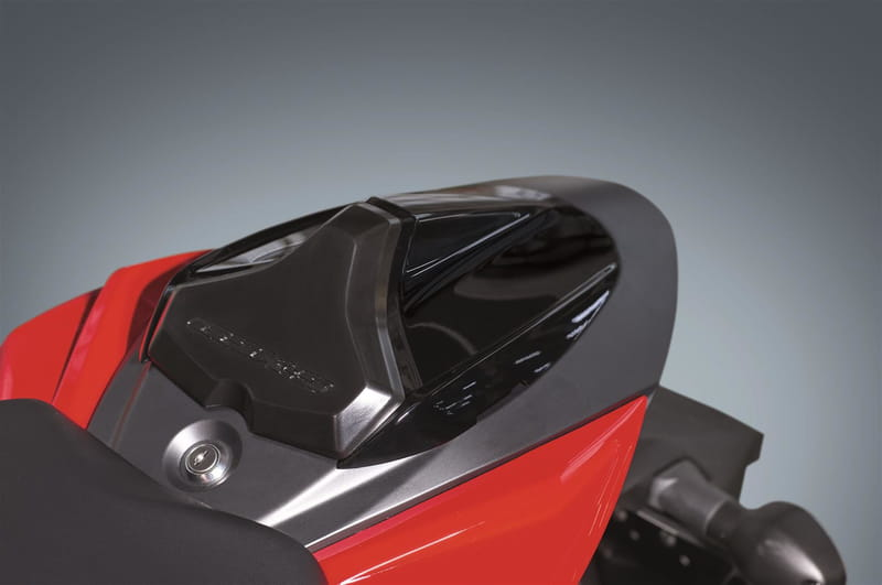 Single Seat Tail Cover, Gloss Black