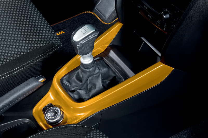 Centre Gear Shift 2WD Surround - Yellow