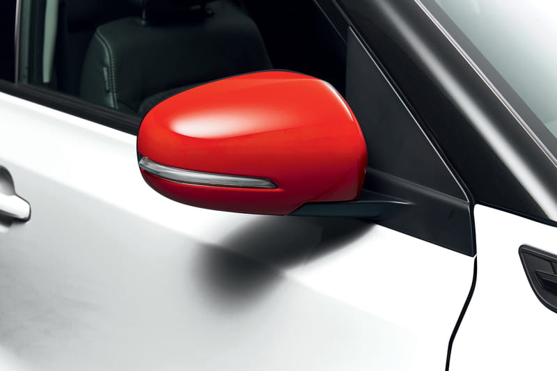 Door Mirror Cover Set - Red