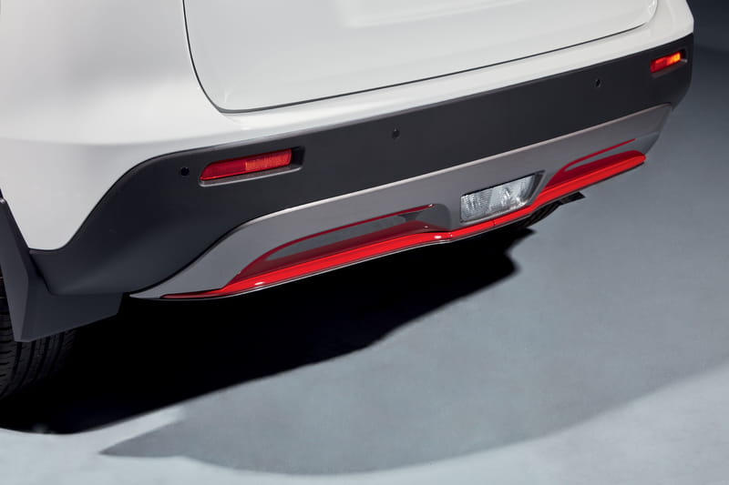 Rear Bumper Accent Line - Red