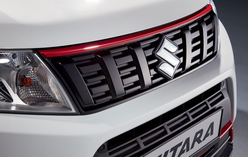Front Grille Upper Accent Line - Red