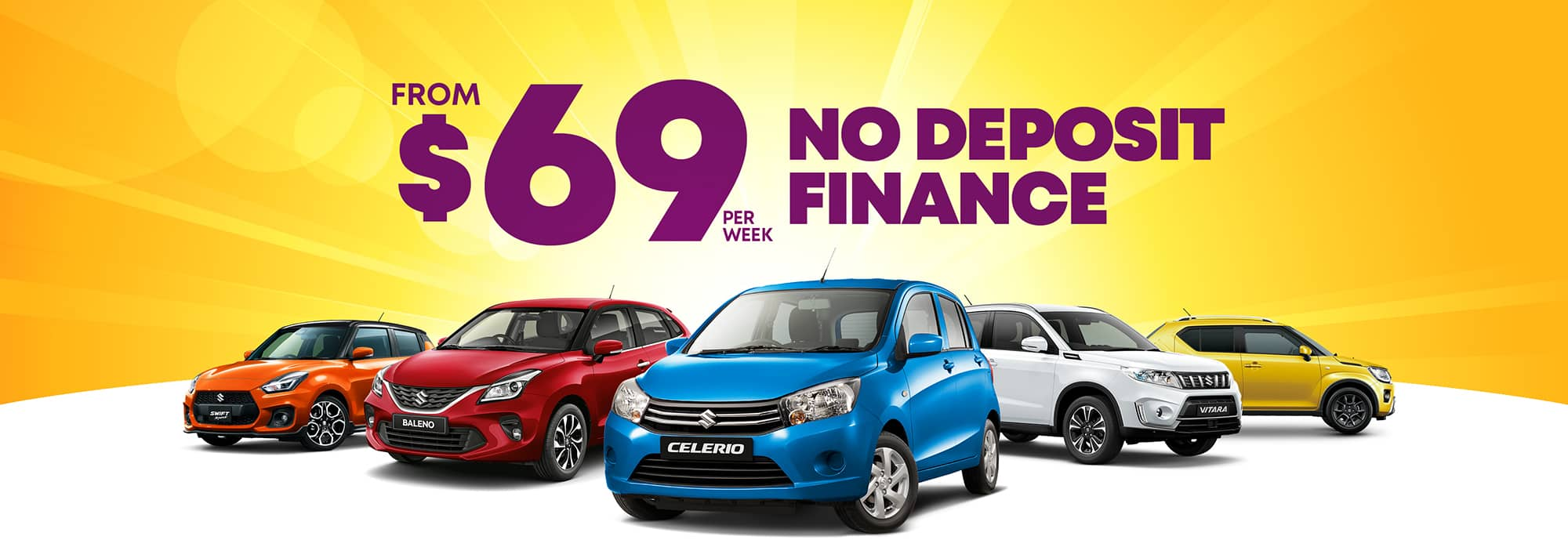 No Deposit Finance from $69 per week