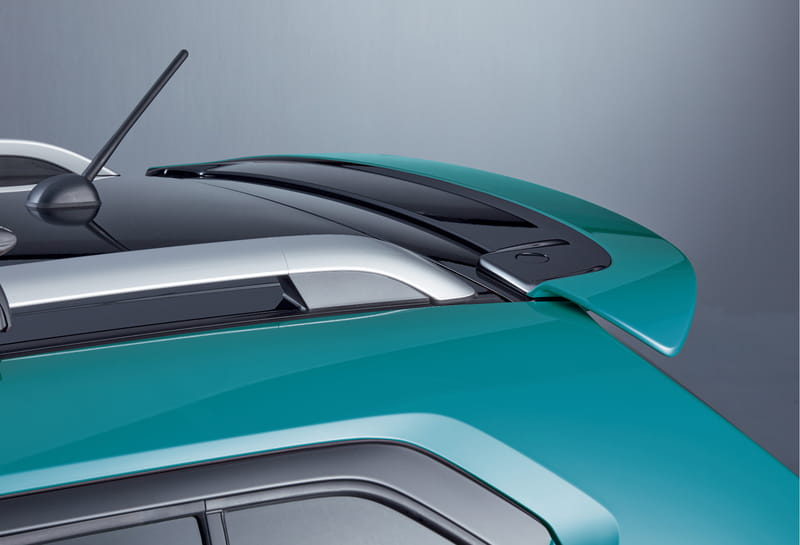 Roof Edge Spoiler - Neon Blue